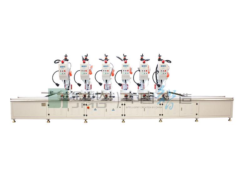 Máquina perfuradora multi-cabeçote para cortina de alumínio