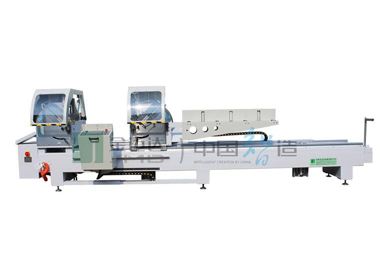 منشار قطع دقيق برأس مزدوج CNC لمقاطع الألمنيوم والبلاستيك PVC